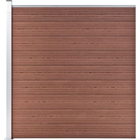 Garden Fence WPC 180x186 cm Brown