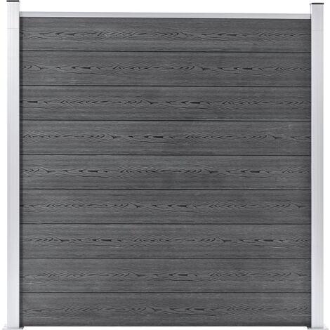 Garden Fence WPC 180x186 cm Grey