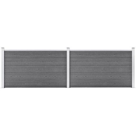 Garden Fence WPC 353x106 cm Grey