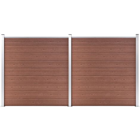 Garden Fence WPC 353x186 cm Brown
