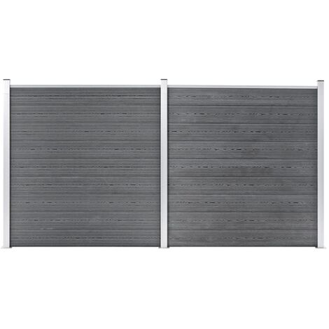 Garden Fence WPC 353x186 cm Grey