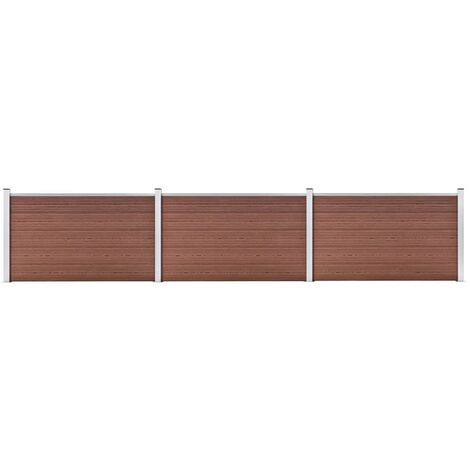 Garden Fence WPC 526x106 cm Brown