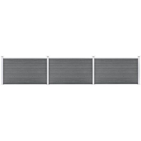 Garden Fence WPC 526x106 cm Grey