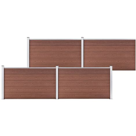 Garden Fence WPC 699x106 cm Brown