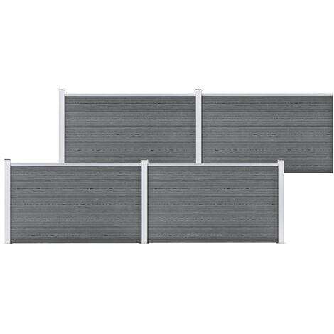Garden Fence WPC 699x106 cm Grey