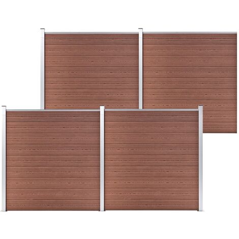 Garden Fence WPC 699x186 cm Brown