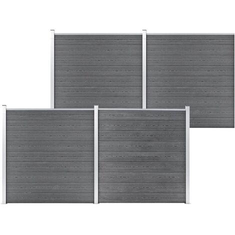 Garden Fence WPC 699x186 cm Grey