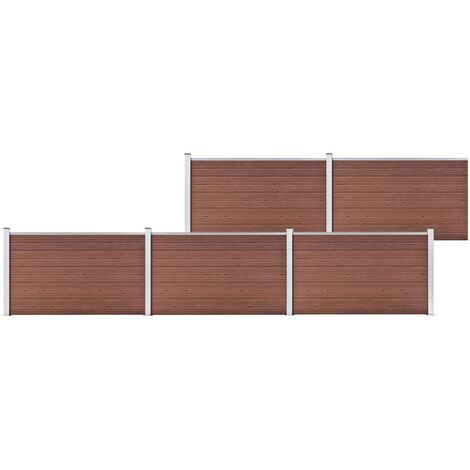 Garden Fence WPC 872x106 cm Brown