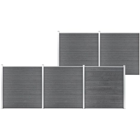 Garden Fence WPC 872x186 cm Grey