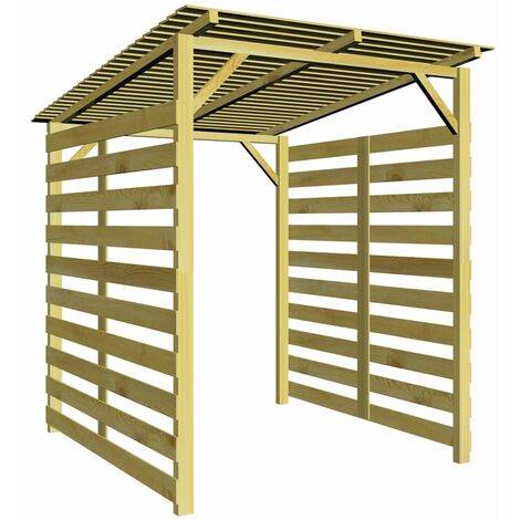Garden Firewood Storage Shed Impregnated Pinewood - Brown