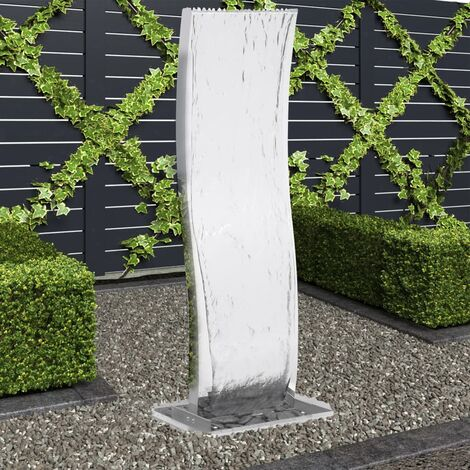 Garden Fountain with Pump Stainless Steel 130 cm Curved