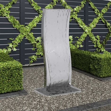 Garden Fountain with Pump Stainless Steel 90 cm Curved