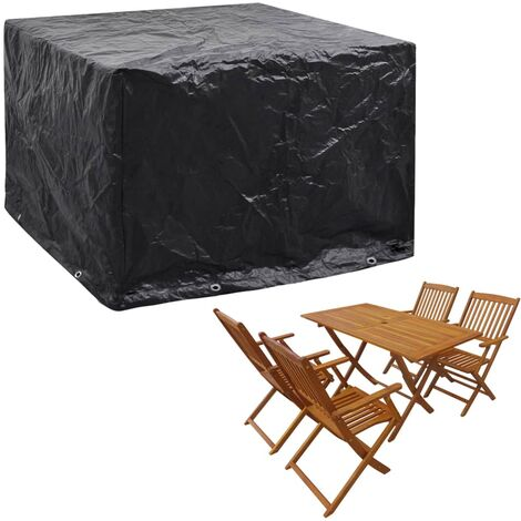 Garden Furniture Cover 8 Eyelets 122x112x98 cm - Black
