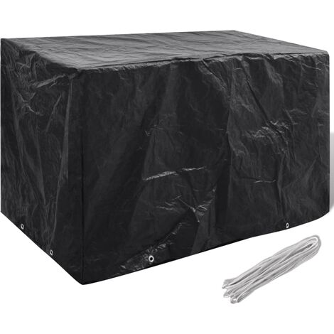 Garden Furniture Cover 8 Eyelets 140 x 70 x 90 cm - Black