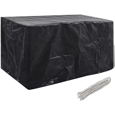 Garden Furniture Cover 8 Eyelets 180 x 70 x 90 cm - Black