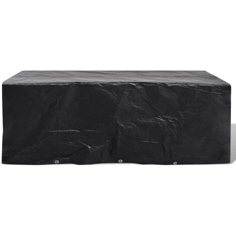 Garden Furniture Cover 8 Person Poly Rattan Set 10 Eyelets 229x113cm
