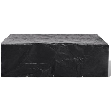 Garden Furniture Cover 8 Person Poly Rattan Set 10 Eyelets 300x140cm