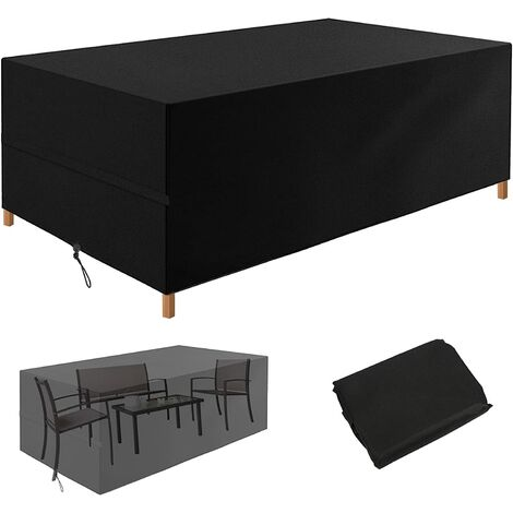 """main image of """"Garden Furniture Covers, Outdoor Rattan Corner Dining Patio Furniture Cover Waterproof Windproof Anti-UV with Heavy Duty 600D Oxford Fabric for Garden Table, Sofa Sets, Bistro Set"""""""
