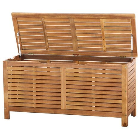 Garden Furniture Cushion Storage Box Wooden Riviera 3381