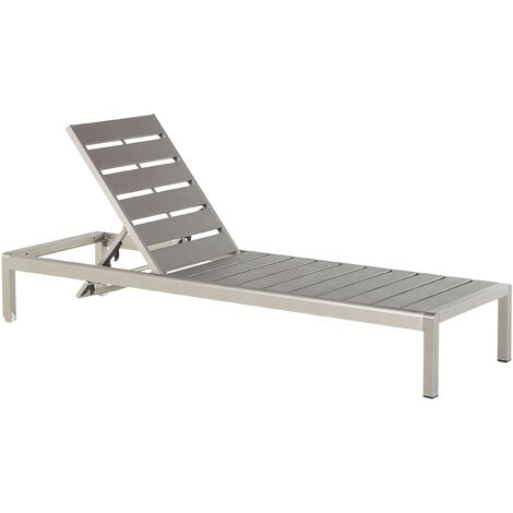 Garden furniture - Sun Lounger - Outdoor furniture - Sun Bed - Grey - NARDO