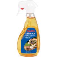 Garden Furniture Teak Oil by SupaDec - Trigger Spray Bottle - 500ml