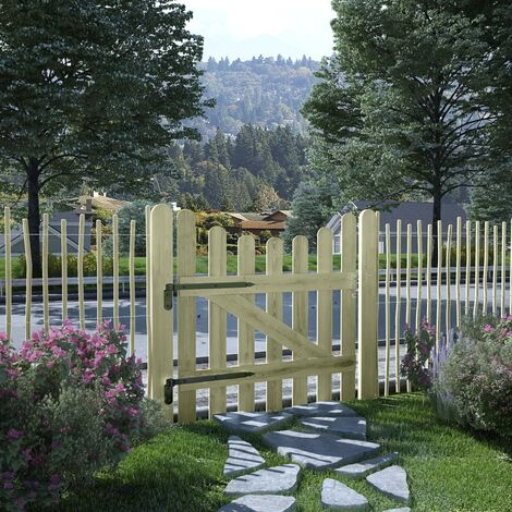 Garden Gate Impregnated Pinewood 100x100 cm