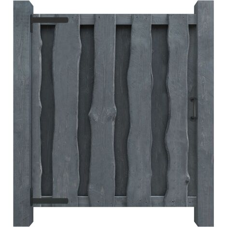 Garden Gate Impregnated Pinewood 100x125 cm Grey