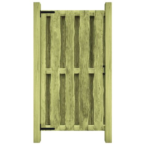 Garden Gate Impregnated Pinewood 100x150 cm Green