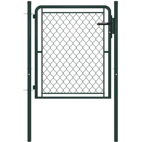 Garden Gate Steel 100x100 cm Green - Green