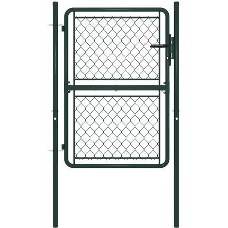 Garden Gate Steel 100x125 cm Green