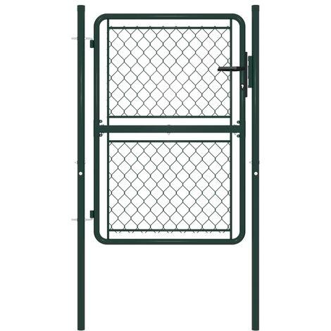 Garden Gate Steel 100x150 cm Green