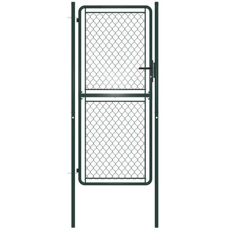 Garden Gate Steel 100x175 cm Green