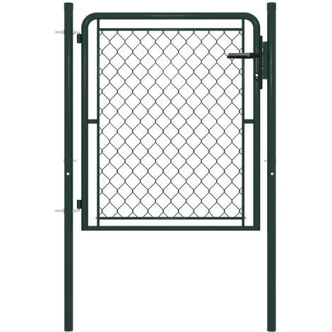 Garden Gate Steel 100x75 cm Green