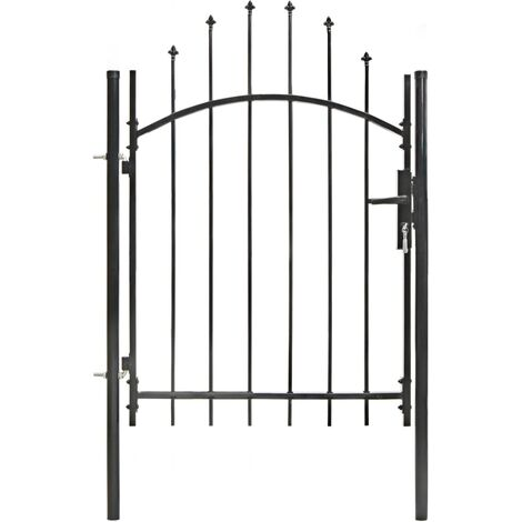 Garden Gate Steel 1x1.5 m Black