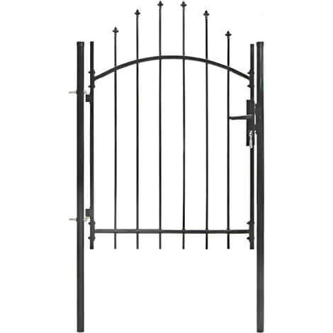 Garden Gate Steel 1x1.75 m Black