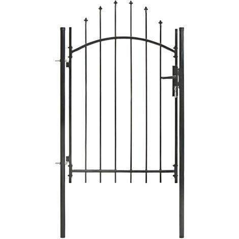 Garden Gate Steel 1x2 m Black