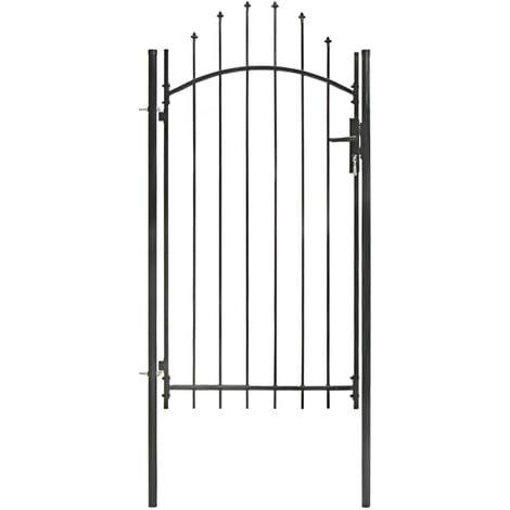 Garden Gate Steel 1x2.45 m Black