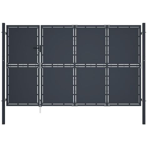 Garden Gate Steel 350x150 cm Anthracite