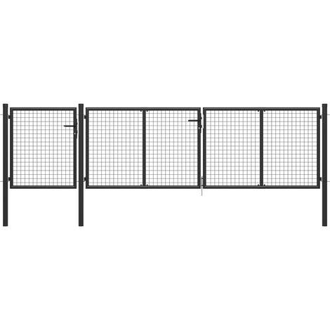 Garden Gate Steel 400x100 cm Anthracite
