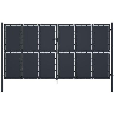 Garden Gate Steel 400x175 cm Anthracite