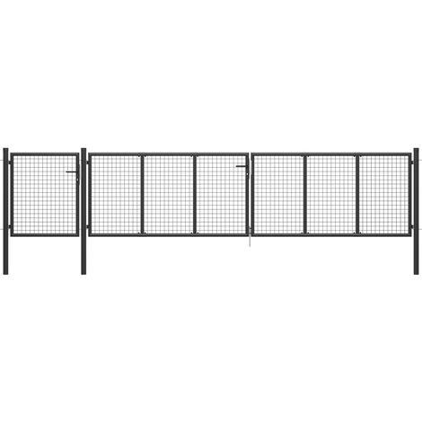 Garden Gate Steel 500x75 cm Anthracite