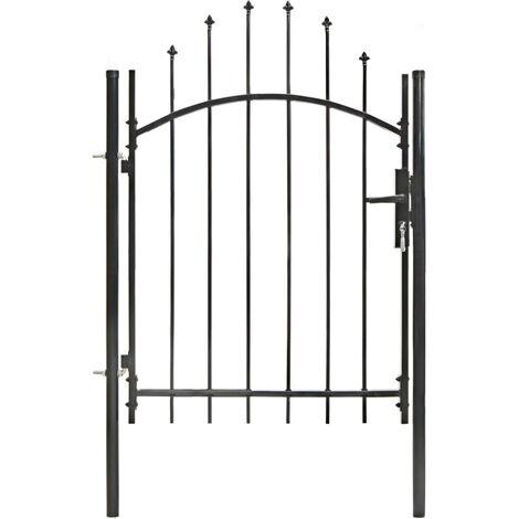 Garden Gate Steel 1x1.5 m Black