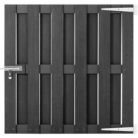 Garden Gate WPC 100x100 cm Grey