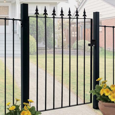 "main image of ""Garden Gate Wrought Iron 85x108cm - Black"""