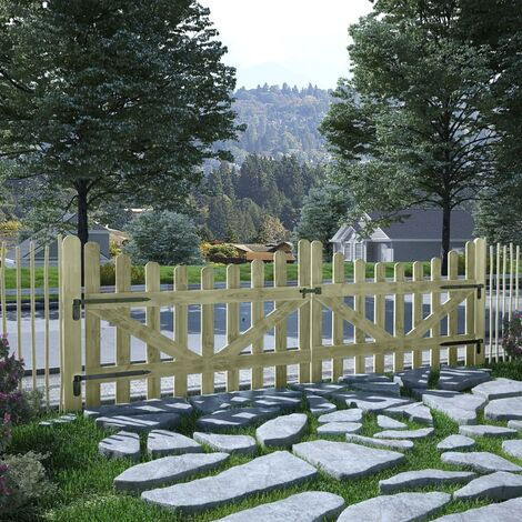 Garden Gates 2 pcs Impregnated Pinewood 150x100 cm