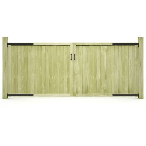 Garden Gates 2 pcs Impregnated Pinewood 300x125 cm