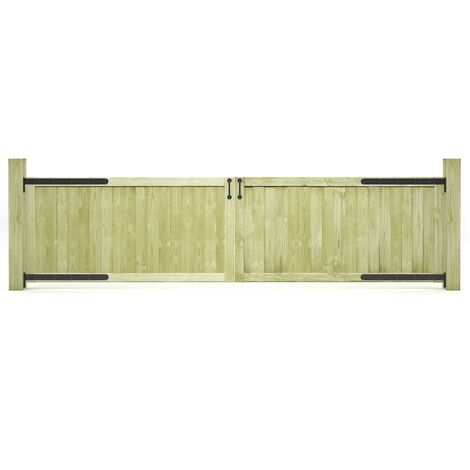 Garden Gates 2 pcs Impregnated Pinewood 300x75 cm