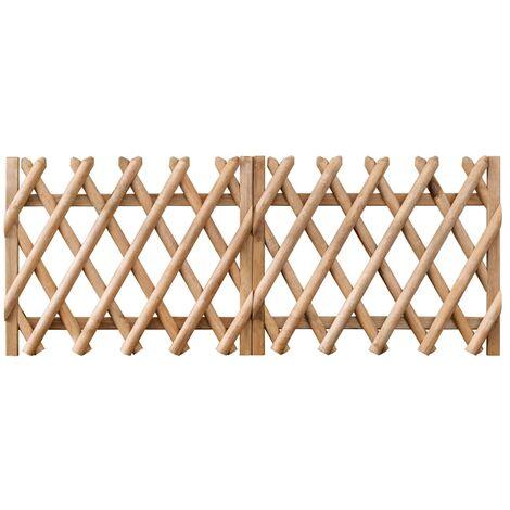 Garden Gates 2 pcs Impregnated Pinewood 300x80 cm