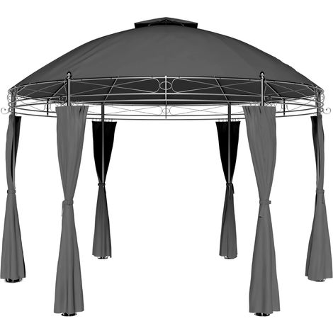 Garden Gazebo Ø350cm Round Party Tent Outdoor Marquee Wedding Pop Up Canopy