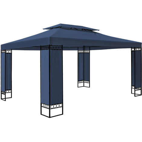 Garden Gazebo 3x4m Marquee BBQ Party Tent Canopy Outdoor Patio Steel Frame Large